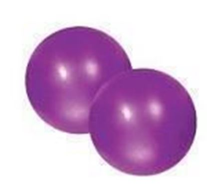 Picture of Pilates Soft Weighted Balls 2 x 15kg Purple