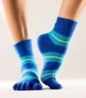 Picture of Toe Socks - Blue stripe - Large